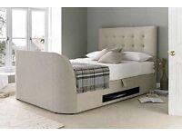 Brand New Kaydian Barnard TV Ottoman Storage Bed - King Size