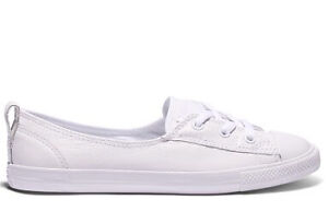 Converse Chuck Taylor Dainty Ballet Leather All White - Size 10 Hillarys Joondalup Area Preview