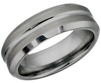 Mens Tungsten Ring, Size 8