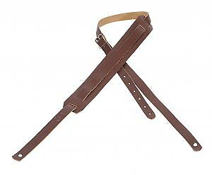 Levy's M11-BRN Leather Guitar Strap - Brown