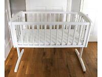Swinging crib / cradle & mattress Mothercare