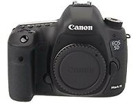 Canon 5D MK iii (Body, 1 x battery, 2 x memory cards – 16 & 32gb)