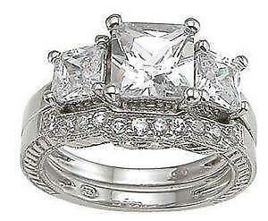 Superior Princess Cut Engagement Ring Sets