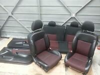 2001-2006 Honda Civic 3dr, ep1,ep2, ep3, Front Half Leather Seats with door panel