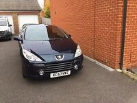 for sale peugeot 307cc mot sept 17 car needs attention hence low price £1000