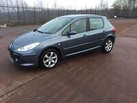 2007 Peugeot 307 1.6 16v 77k fsh Years mot £1250 ,,,,