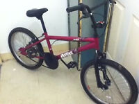 pink girls bmx bicycly was 25.00 now 15.00