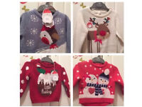 Baby Christmas jumpers Mothercare BNWT