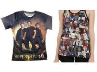2 x supernatural shirts usa imports