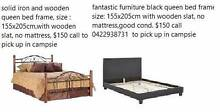 2 sets solid wooden queen bed frame Campsie Canterbury Area Preview