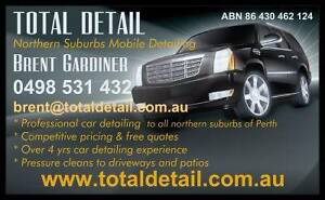 TOTAL DETAIL - MOBILE CAR DETAILER  - WE DRIVE TO YOU! Perth Perth City Area Preview