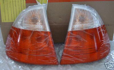(BMW Brand E46 3 Series Touring 1999-2005 Wagon Genuine Clear Taillights OEM New)