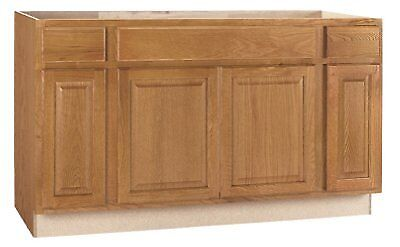 (RSI HOME PRODUCTS HAMILTON SINK BASE CABINET, FULLY ASSEMBLED, RAISED PANEL, OAK)