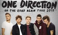 ONE DIRECTION ROW 3 FLOOR TICKETS! AUG.20,2015