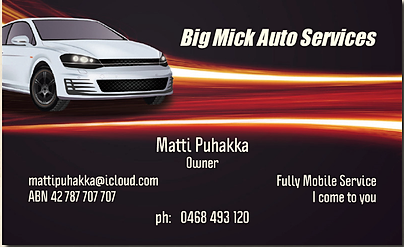 Big Mick Auto Services. Air Con Re-Gas Re gas