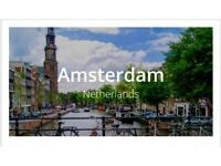 London to Amsterdam return flight single ticket just £45