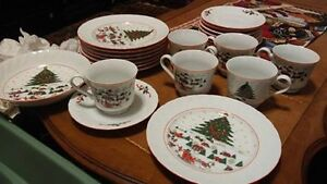 Vintage Christmas China Dishes
