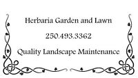 HERBARIA GARDEN AND LAWN. Landscape Maintenance Services.