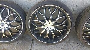 Crave alloys 5x114.3 rims with tires