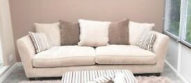 4 seater sofa, 2 seater sofa, – Sofology Canterbury pillow back – 36 months old