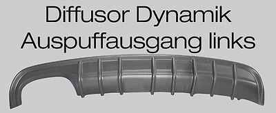 Mercedes CLK W208 Diffusor Dynamik für AMG Ausschnitt links  8 Finnen
