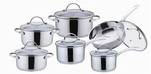 12 Piece Stainless Steel Cookware Set (New)