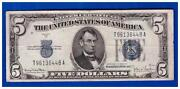5 Dollar Bill Blue Seal