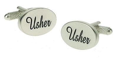 Usher Wedding Cufflinks in Onyx Art of London Presentation Gift Box - Usher In Wedding