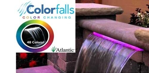 """Atlantic Color Falls 24"""" Complete Formal Pondless Waterfall Kit - Color Changing"""