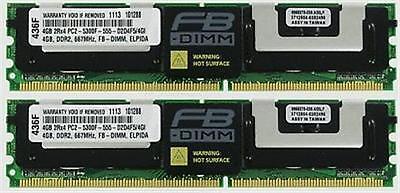 8GB (2X4GB) DDR2 MEMORY RAM PC2-5300 ECC FULLY BUFFERED FBDIMM **FOR SERVERS**
