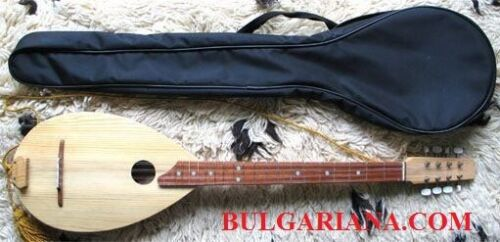 BULGARIAN TRADITIONAL TAMBOURA  Pandore with case 8 strings by Ivan Terziiski