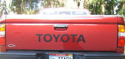 TOYOTA TAILGATE  Vinyl Decal Sticker Emblem Logo Graphic BLACK Lettering Vehicle