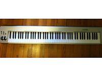MIDI M Audio 88 key keystation and sustain pedal