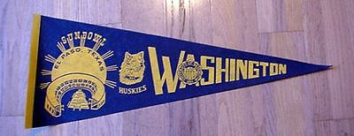 1979 Washington Huskies Sun Bowl Game Pennant Unsold Concessions Stock