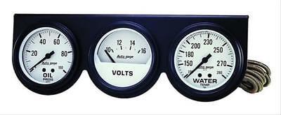 Autometer 2328 Autogage Mechanical White 2-5/8