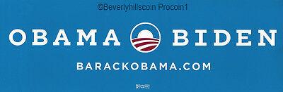 Obama Biden BarackObama.com 2012 Presidential Election Bumper Sticker
