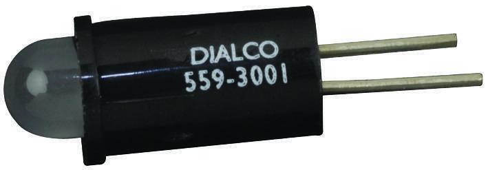 DIALIGHT-559-3001-001F-PANEL MOUNT INDICATORRED/GREEN2.1V,5PK
