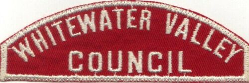 BOY SCOUT RWS WHITEWATER VALLEY / COUNCIL RED & WHITE FULL STRIP