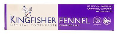 Kingfisher Toothpaste - Fennel (Fluoride Free) - 100ml (Pack of 8)