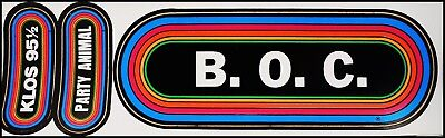Blue Oyster Cult 80's KLOS Concert Rainbow Bumper Stickers BOC Party Animal
