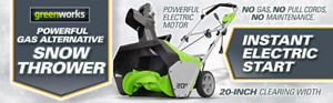 BRAND NEW! Greenworks 13 Amp 20-Inch Corded Snow Thrower