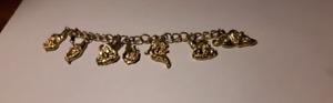 Gold tone seven dwarfs kids bracelet