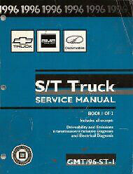 Service manuals for 1996 Chevy GMC Blazer Jimmy truck S/T