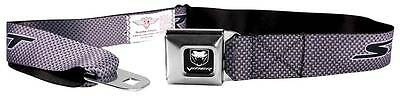 Seatbelt Men Canvas Web Military Dodge Viper SRT Carbon Fiber Silver Black