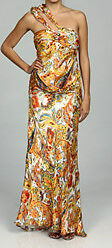 New Issue New York Women's Silk Paisley Evening Gown /Multicolor /8.