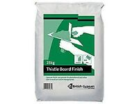 180 bags of thistle board finish plaster