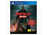 Friday the 13th on ps4 mint / cash or swaps