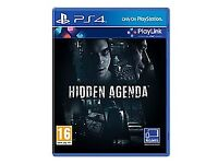 Brand new playstation 4 game hidden agenda