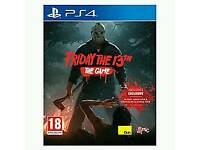 Ps4 game mint like new used once/ Friday 13th ps4 game/ cash or swaps