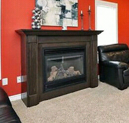 Continental Gas Fireplace 22,000 BTU and Mantle
